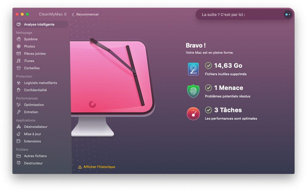 cleanmymac x analyse intelligente resultats Comment utiliser CleanMyMac X pour optimiser son Mac