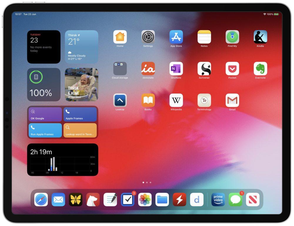 iPadOS 14 Widgets iOS 14 et iPadOS 14 : 5 jours après le déploiement, le taux dadoption est de 27%