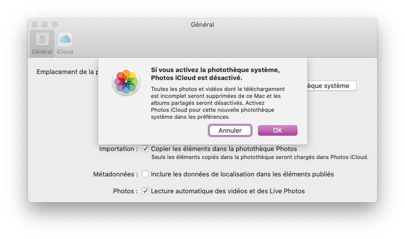 mac activer phototheque systeme photos Comment et pourquoi définir une photothèque système sur Mac
