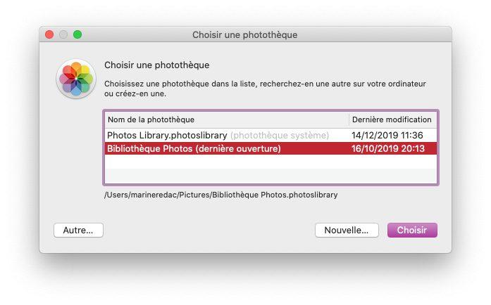 mac choix phototheque photos Comment et pourquoi définir une photothèque système sur Mac