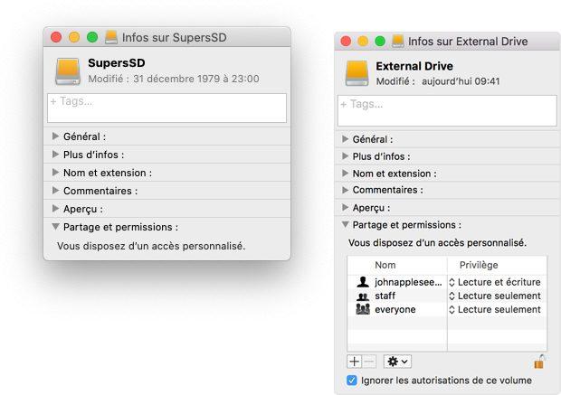mac permissions disque externe Comment et pourquoi définir une photothèque système sur Mac