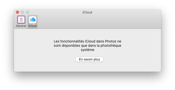 mac photos icloud impossible Comment et pourquoi définir une photothèque système sur Mac