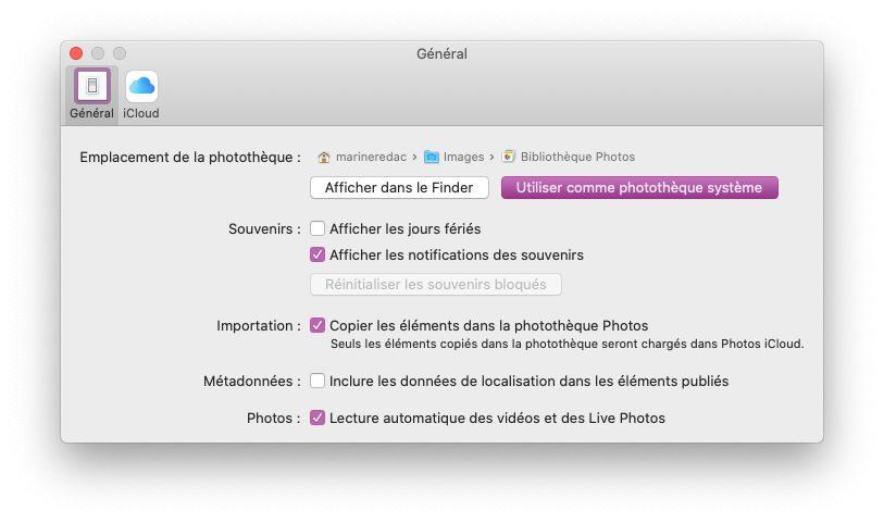 mac phototheque systeme Comment et pourquoi définir une photothèque système sur Mac