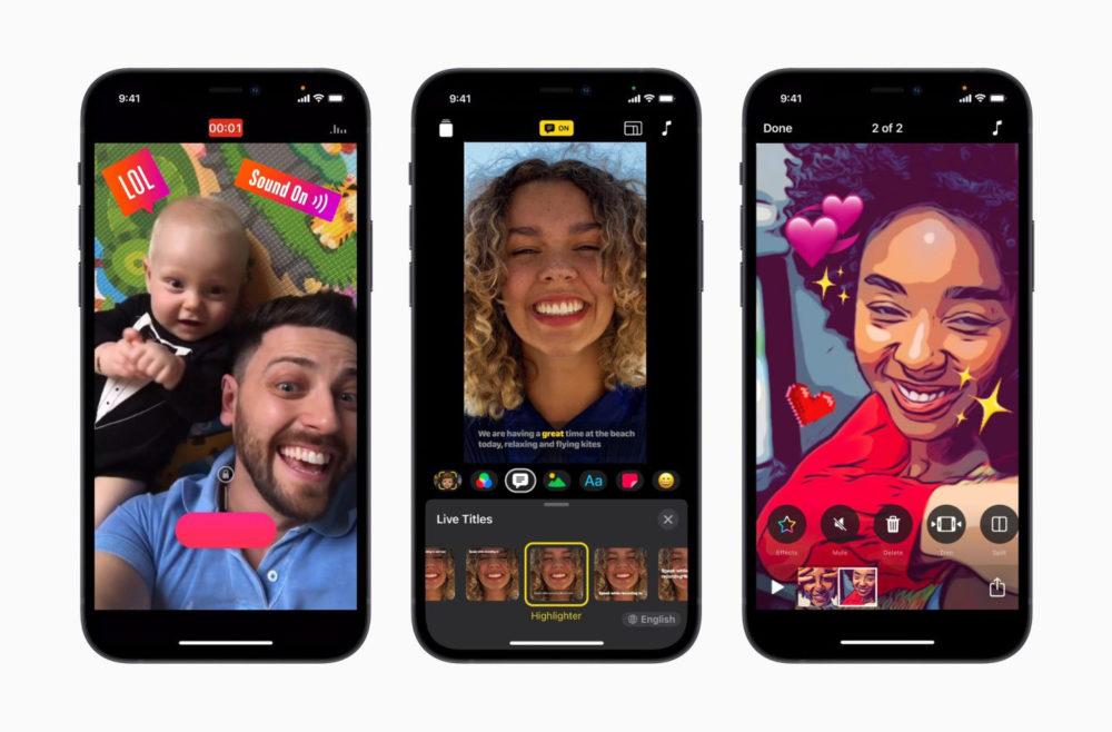 Apple Clips Mise A Jour iPhone 12 Apple met à jour son app Clips : support des iPhone 12, nouveau design, plusieurs nouveautés...
