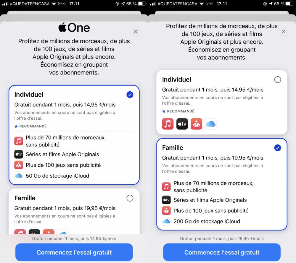 Apple One Activation Apple One est, comme prévu, disponible aujourdhui en France et dautres pays