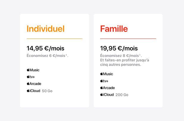 Apple One Economie Apple One est, comme prévu, disponible aujourdhui en France et dautres pays
