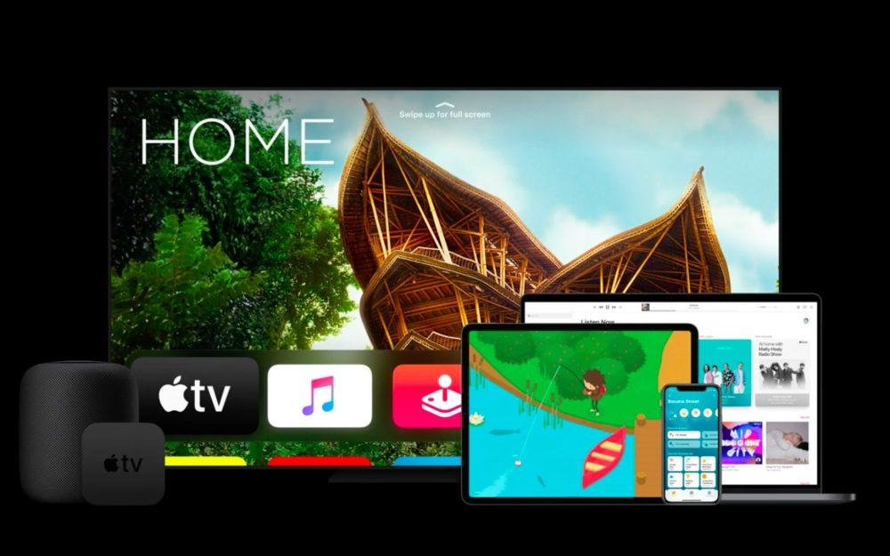 Apple TV MacBook iPad iPhone HomePod watchOS 7.1 et tvOS 14.2 : la bêta 3 est disponible