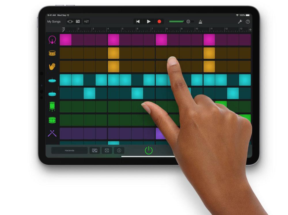 GarageBand iPad Pro Apple met à jour GarageBand et iMovie sur iOS et ajoute plusieurs nouveautés