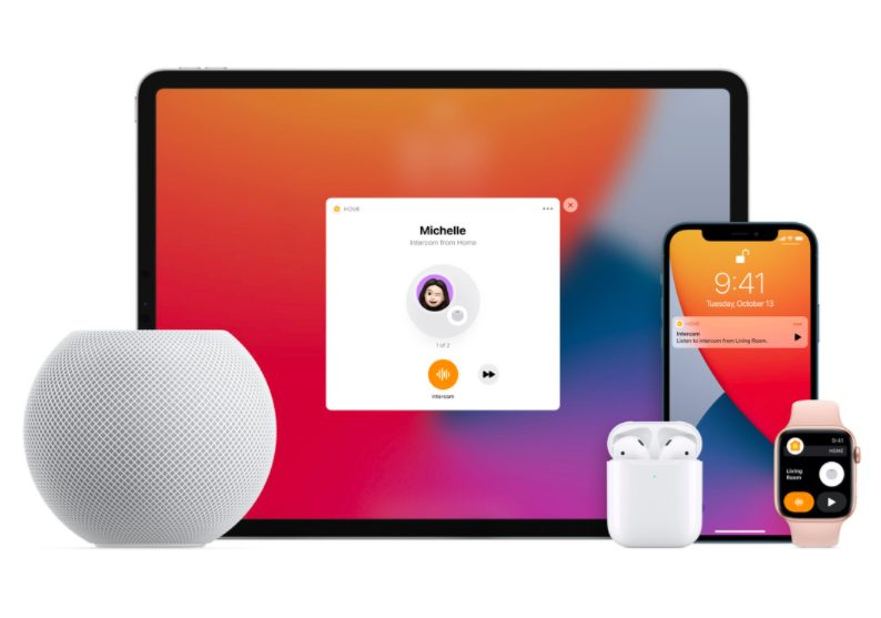 Intercom HomePod mini iPad iPhone Apple Watch AirPods HomePod mini : un mini haut parleur intelligent avec de nouvelles fonctionnalités Siri pour 99 dollars