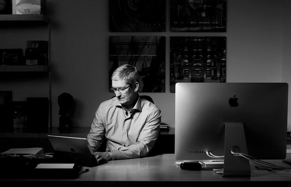Tim Cook Apple Apple publiera ses résultats financiers du 4e trimestre 2020 le 29 octobre
