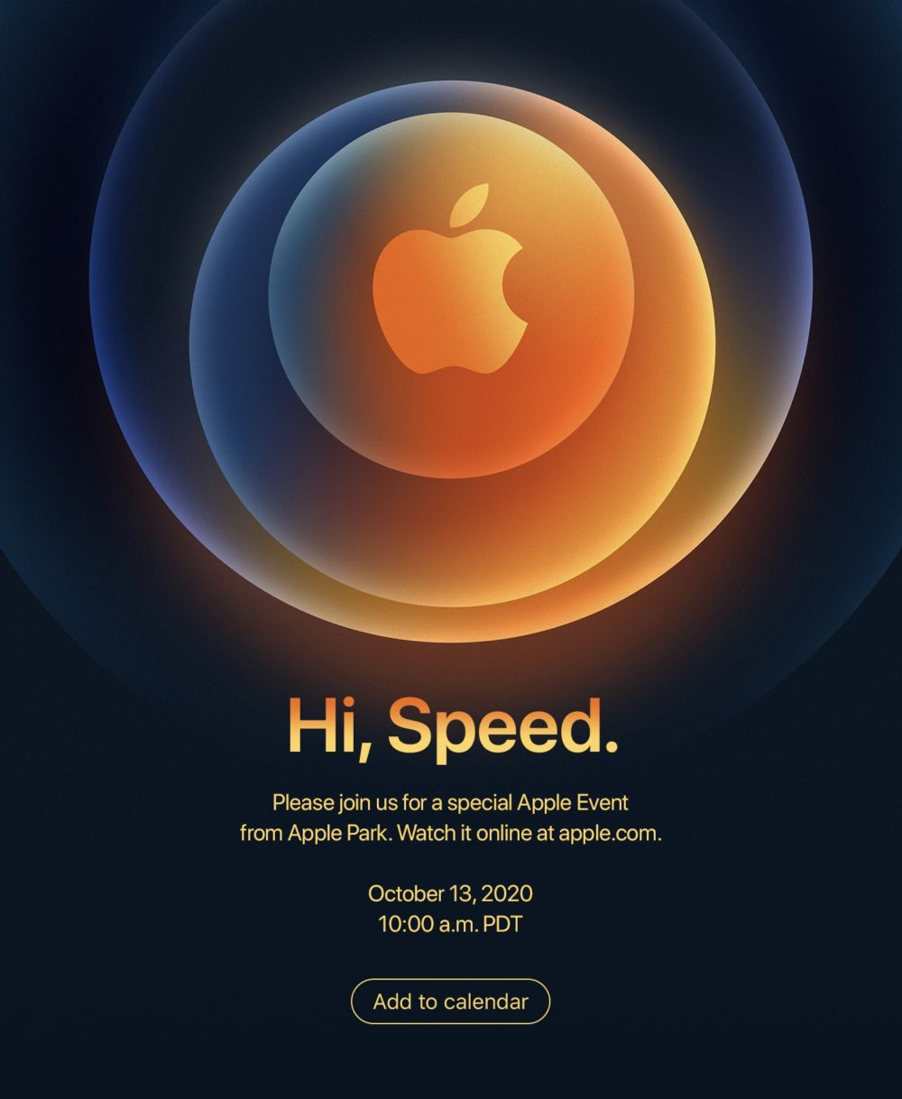 iPhone 12 Keynote Hi Speed Apple annonce une keynote pour présenter liPhone 12 le 13 octobre prochain