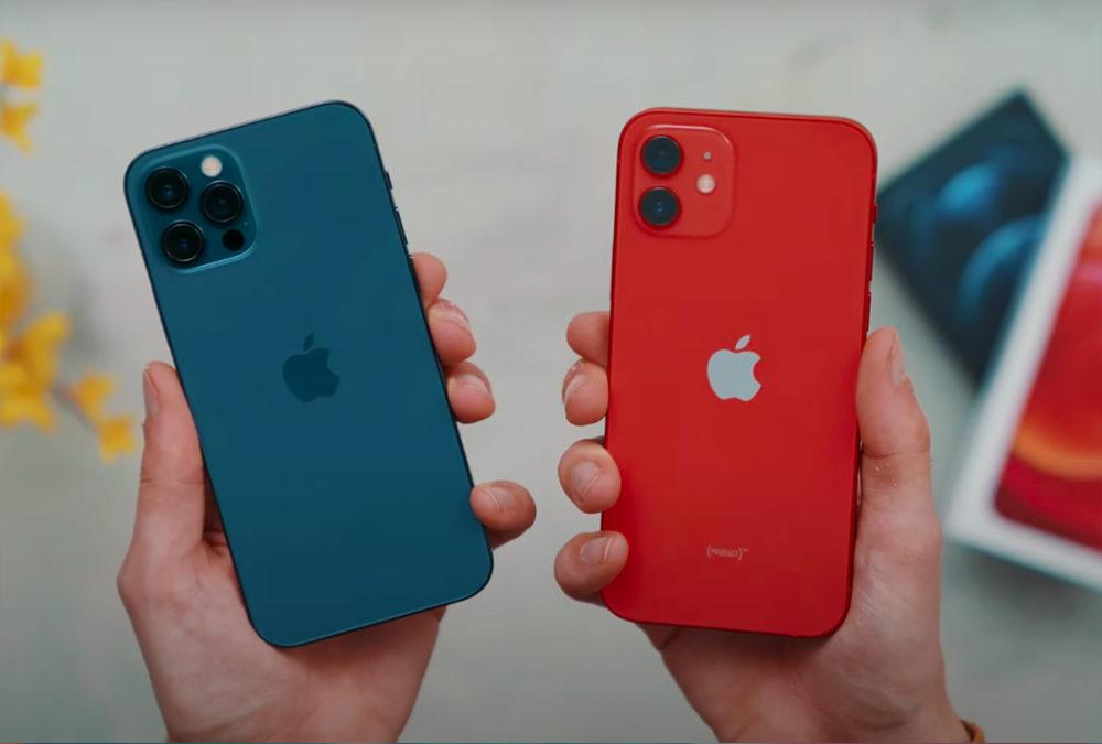 iPhone 12 Pro Bleu et iPhone 12 Rouge Un test vidéo montre que la batterie des iPhone 12 et 12 Pro est moins bonne que celle de liPhone 11 Pro