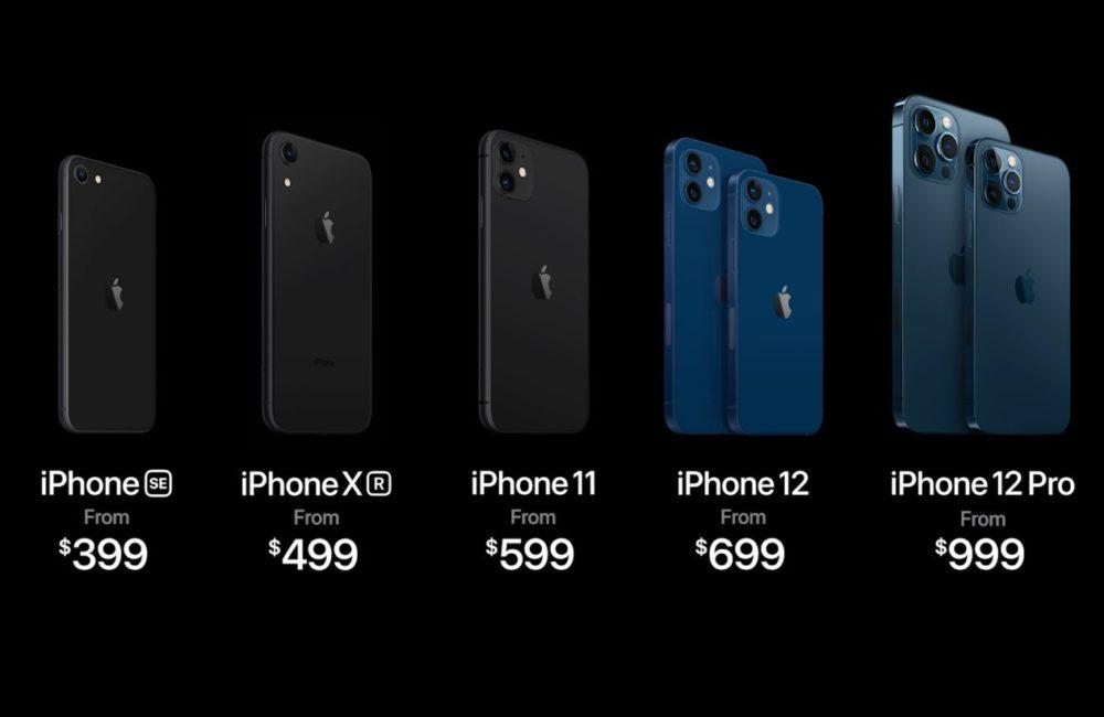 iPhone Prix Dollars iPhone 12, 12 mini, 12 Pro et 12 Pro Max : les prix en euros sont disponibles