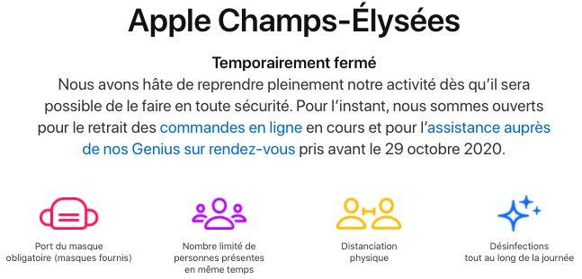 App Store France Fermes Coronavirus Certains des Apple Store en France ferment leurs portes provisoirement à cause du COVID 19