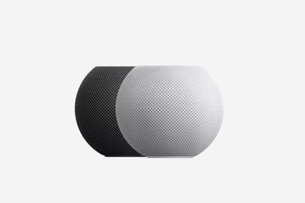 Apple HomePod mini Noir Blanc Le HomePod mini est enfin compatible avec les chargeurs 18 W avec la mise à jour 14.3