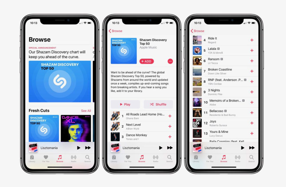 Apple Music : jusquà 5 mois gratuits offerts via Shazam