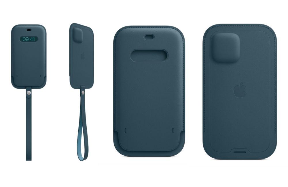 Housse Cuir Avec MagSafe iPhone 12 iPhone 12 : la housse en cuir MagSafe est disponible à lachat