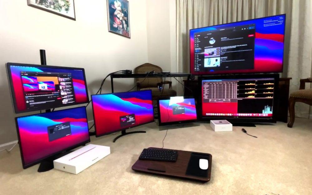 Mac M1 6 Ecrans DisplayLink Les Mac M1 arrivent à supporter 6 écrans externes grâce à DisplayLink