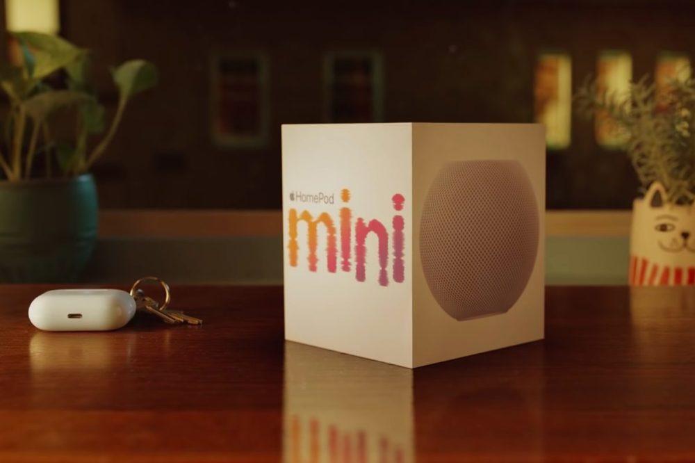 Pub Noel Apple 2020 HomePod mini Apple publie une publicité pour la Noël dans laquelle il met en avant le HomePod mini
