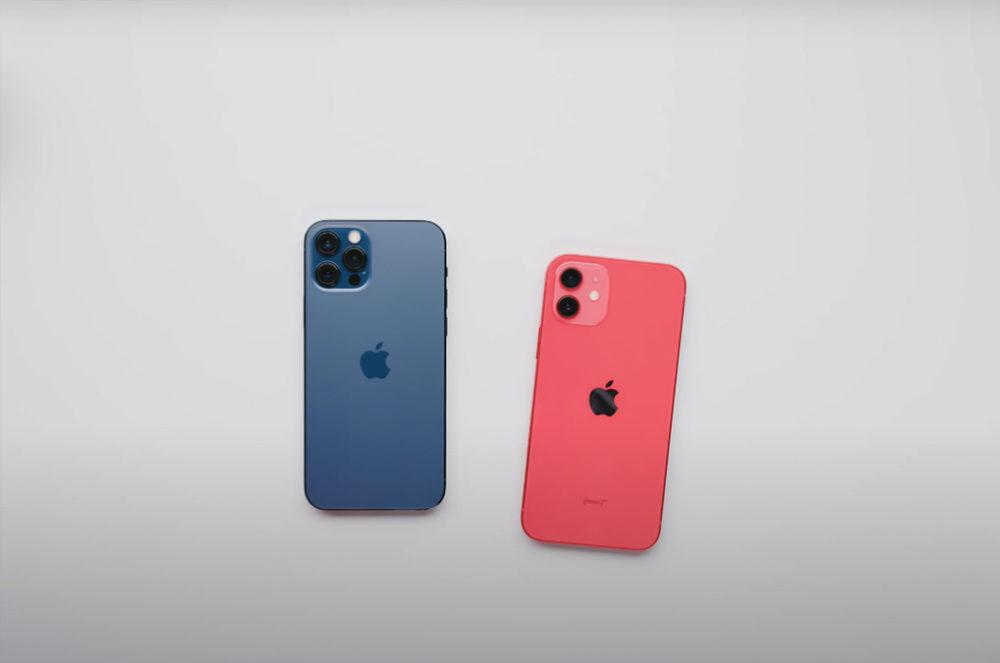 iPhone 12 Pro Bleu iPhone 12 Rouge Dos Camera Pour avoir la recharge rapide sur liPhone 12, vous devez utiliser un chargeur de 20 W minimum