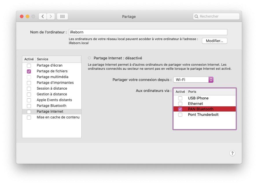 mac partage internet wifi bluetooth Comment partager la connexion internet de son Mac en Wi Fi