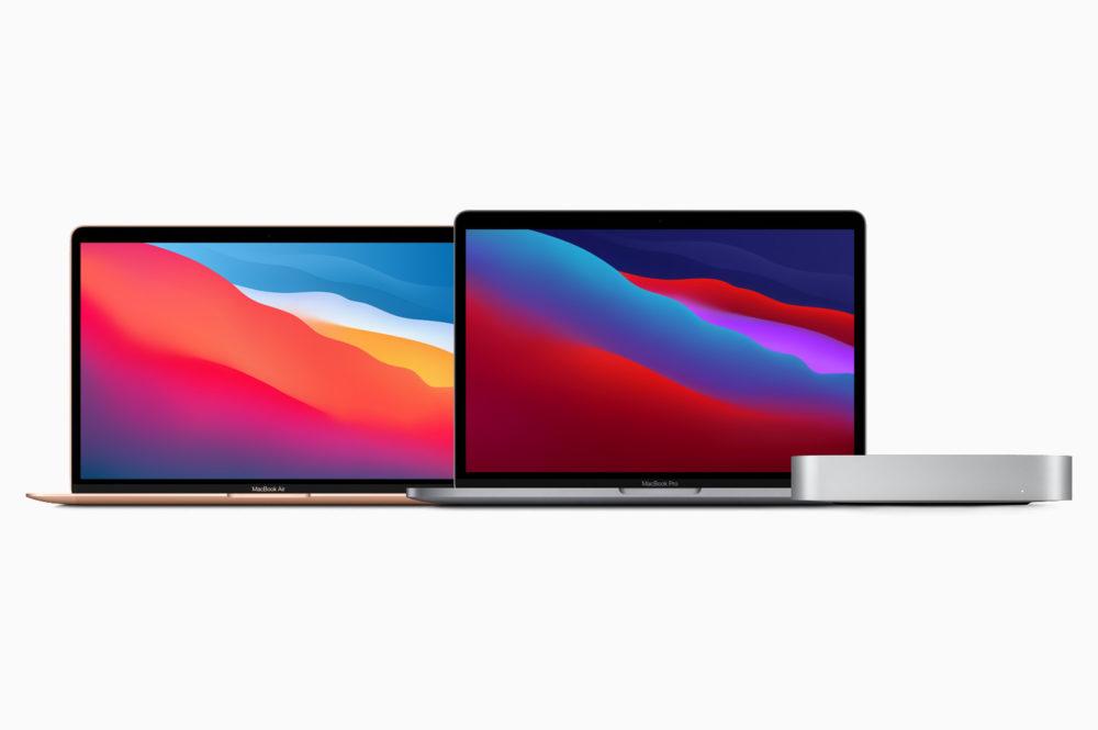 Apple MacBookAir M1 MacBook Pro 13 pouces M1 Mac Mini M1 M1 : Apple indique les apps de création de production et indispensables compatibles avec sa puce