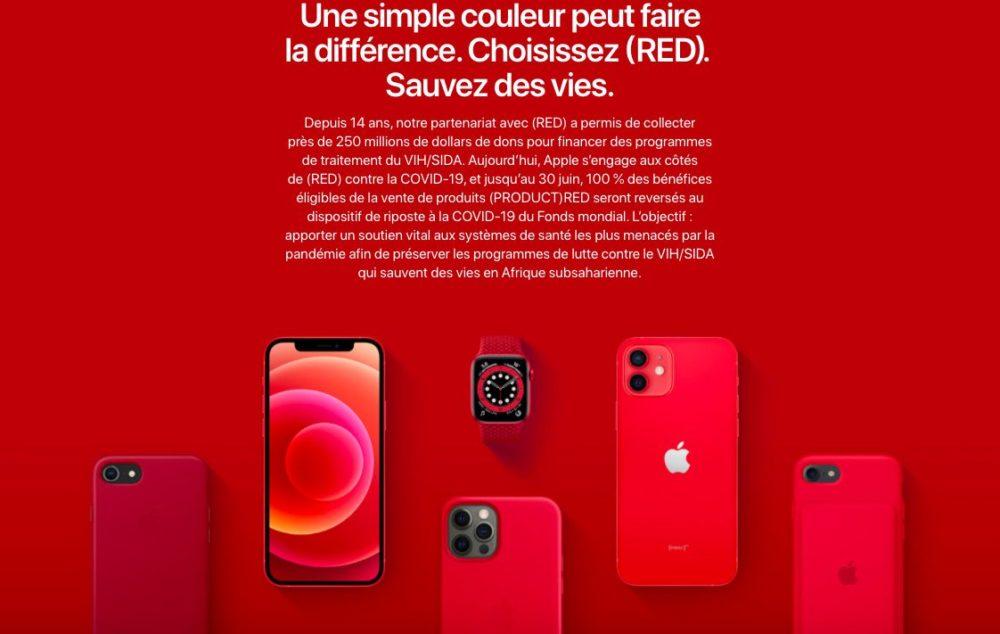 Journee contre sida Apple RED À loccasion de la journée de lutte contre le sida, Apple vante les produits RED