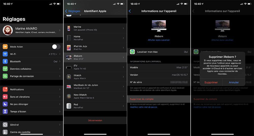 iphone id supprimer compte appareil Comment faire si vous avez déjà 5 ordinateurs autorisés sur iTunes / Musique
