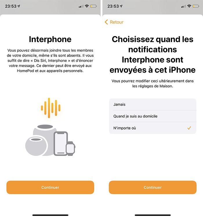 iphone maison activer interphone Comment utiliser lInterphone avec les HomePod, iPhone, CarPlay, Apple Watch et les autres iDevices