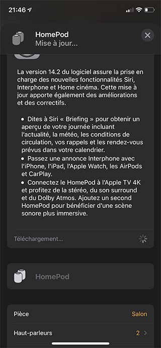 iphone maison maj homepod ios 14 2 Comment utiliser lInterphone avec les HomePod, iPhone, CarPlay, Apple Watch et les autres iDevices