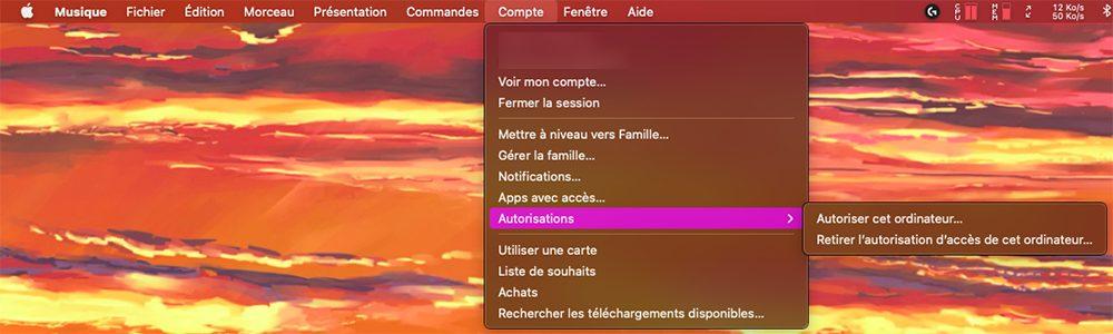mac musique autorisation Comment faire si vous avez déjà 5 ordinateurs autorisés sur iTunes / Musique