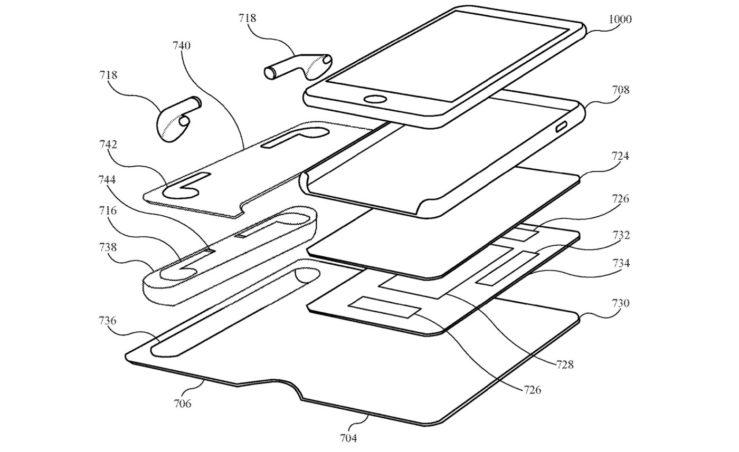 Brevet Coque Pour iPhone Recharge AirPods 2 Un brevet Apple montre une coque pour iPhone qui pourrait recharger les AirPods