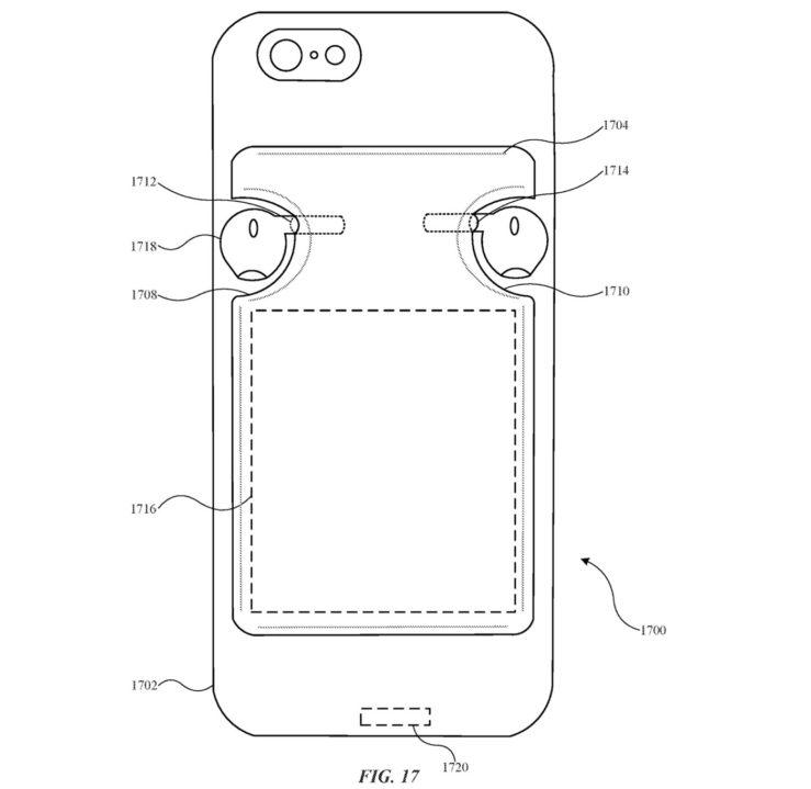 Brevet Coque Pour iPhone Recharge AirPods 4 Un brevet Apple montre une coque pour iPhone qui pourrait recharger les AirPods