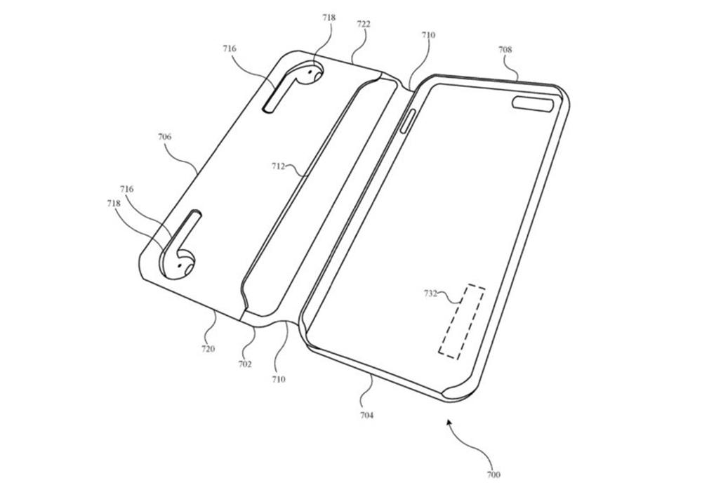 Brevet Coque Pour iPhone Recharge AirPods Un brevet Apple montre une coque pour iPhone qui pourrait recharger les AirPods