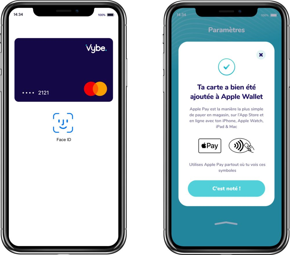 Neobanque Vybe Apple Pay La néobanque Vybe est désormais compatible avec Apple Pay