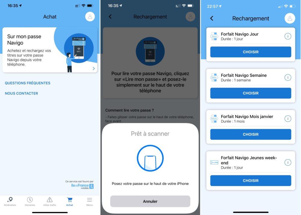 Recharger Pass Navigo iPhone Il est désormais possible de recharger son passe Navigo avec liPhone