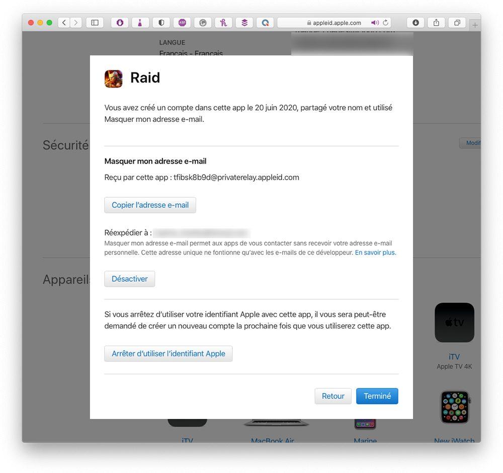 apple id connexion app Comment utiliser le service Connexion avec Apple
