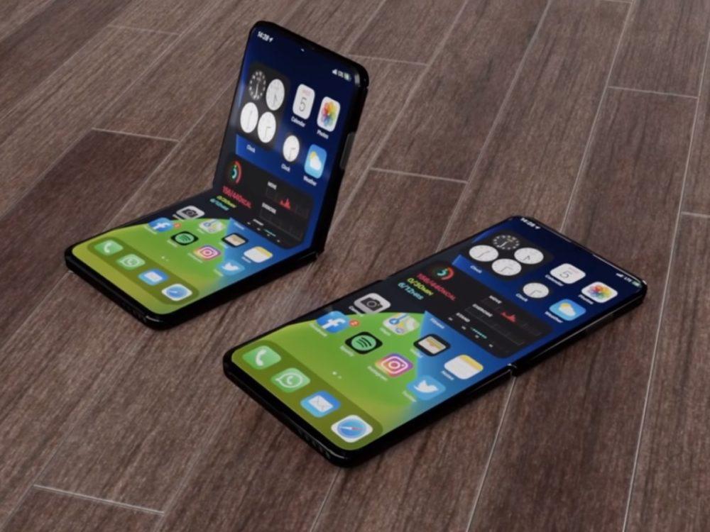 iPhone 12 Flip concept iPhone pliables : Apple aurait testé la durabilité de deux prototypes