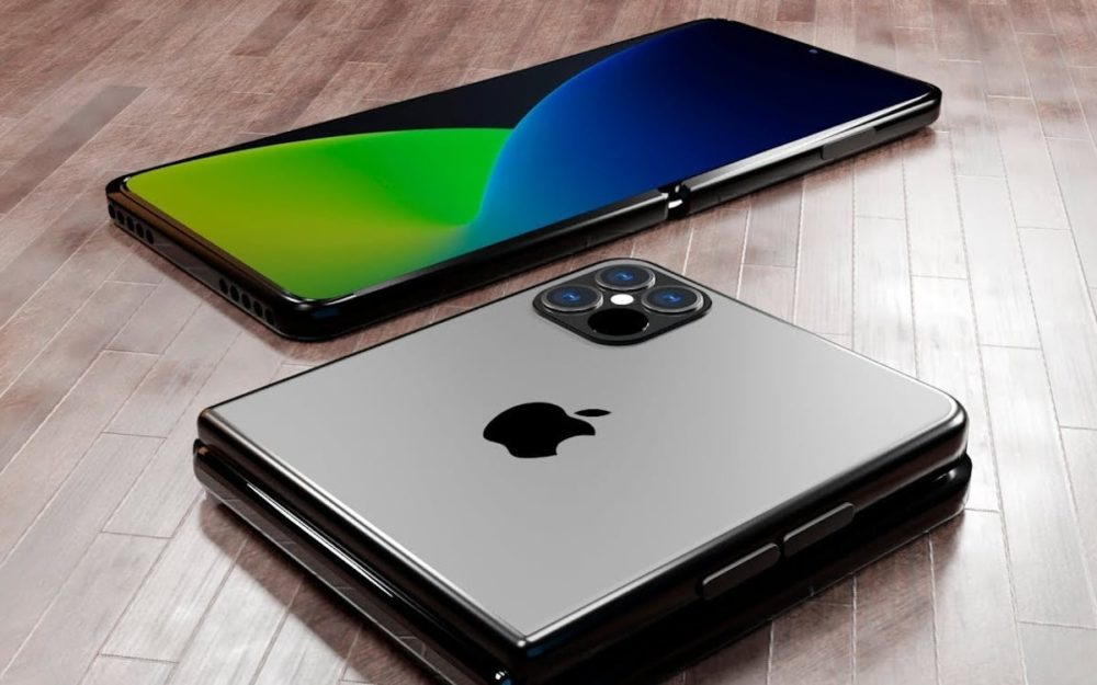 iPhone Pliable concept LiPhone 13 avec Touch ID sous lécran et un iPhone pliable en préparation ?