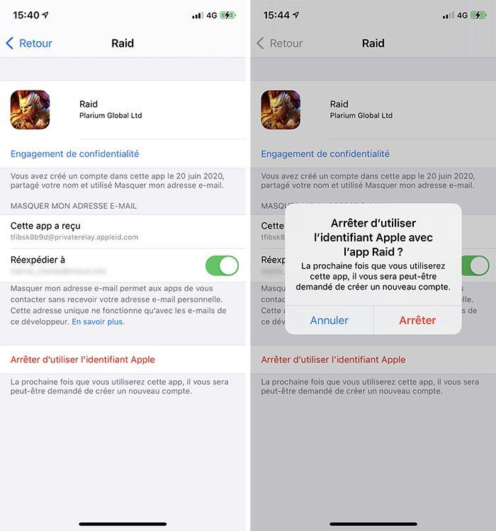 iphone arreter utiliser connexion apple 1 Comment utiliser le service Connexion avec Apple