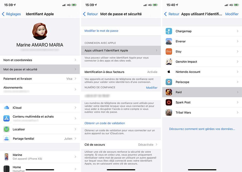 iphone choix app connexion apple Comment utiliser le service Connexion avec Apple