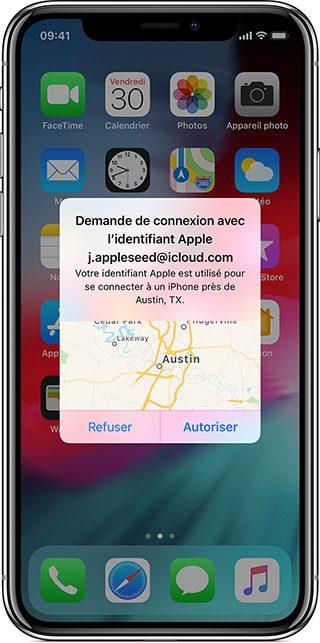 iphone notification validation acces Comment activer l'identification à deux facteurs pour l'identifiantApple