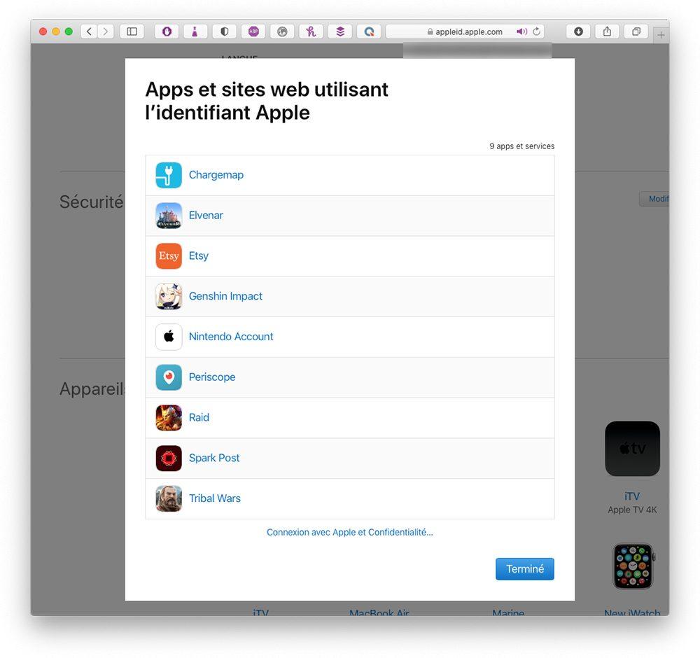 mac app connexion apple Comment utiliser le service Connexion avec Apple