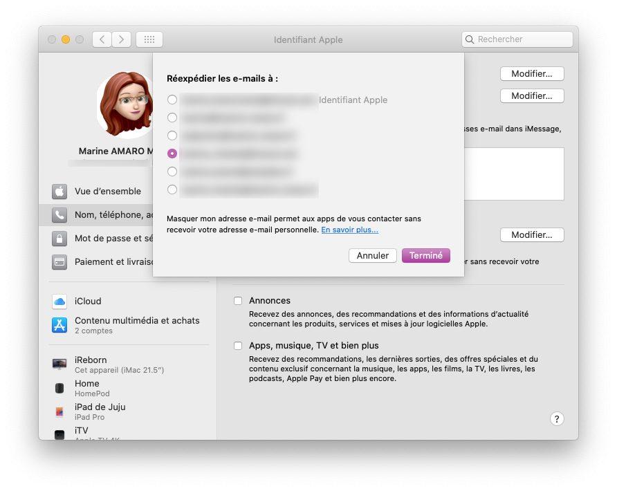 mac choix email Comment utiliser le service Connexion avec Apple
