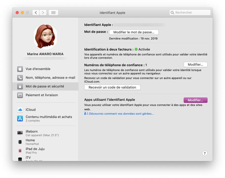 mac reglages id apple Comment utiliser le service Connexion avec Apple