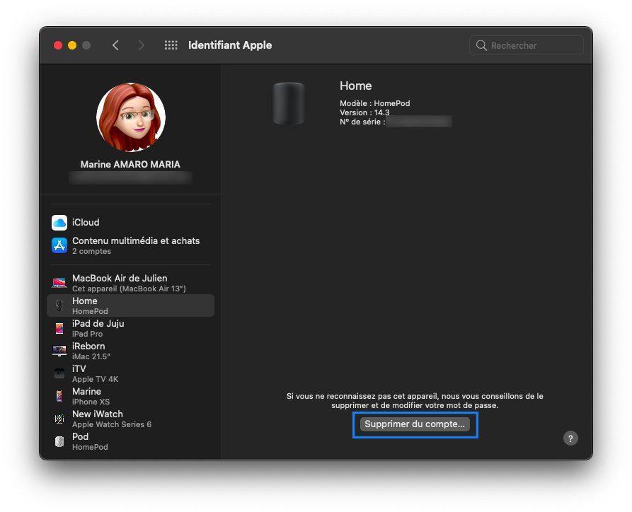 mac supprimer appareil confiance Comment activer l'identification à deux facteurs pour l'identifiantApple