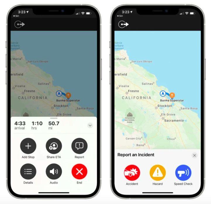 Apple Plans iOS 14.5 Signaler Accident Radar et Danger iOS 14.5 : il serait possible, comme dans Waze, de signaler les accidents, radars et dangers