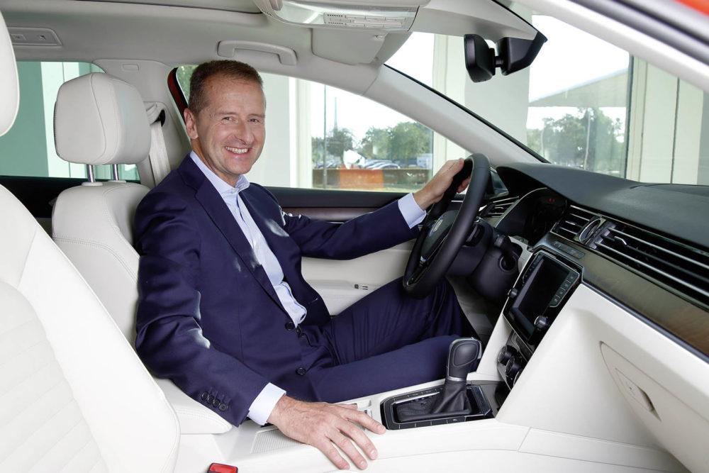 Herbert Diess Patron Volkswagen Selon le patron de Volkswagen, lApple Car ne fait pas peur à la compagnie