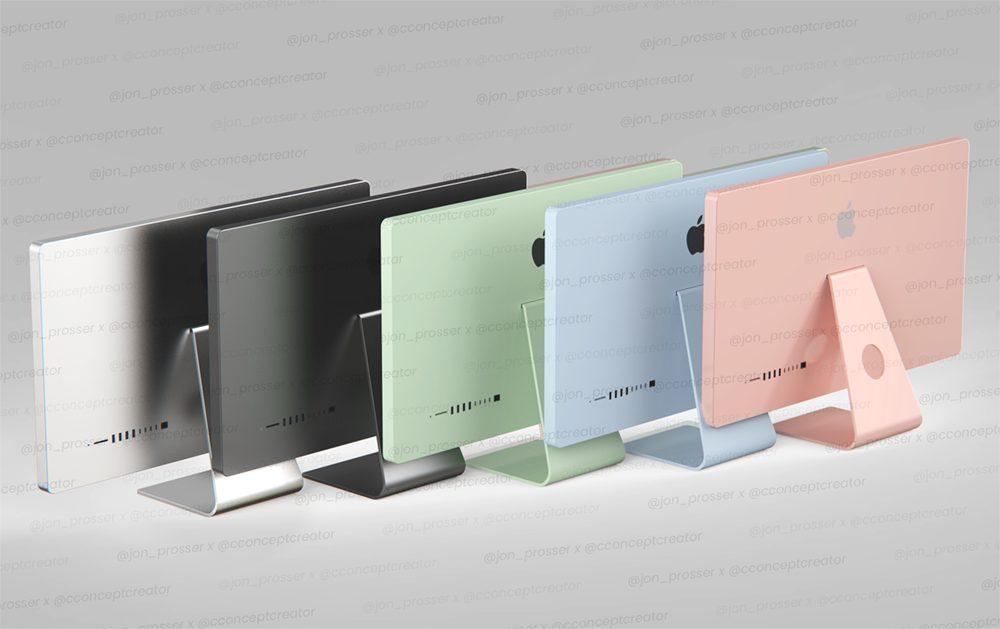 Jon Prosser iMac 2021 Coloris iMac 2021 : Apple proposerait les mêmes couleurs retrouvées sur liPad Air 4