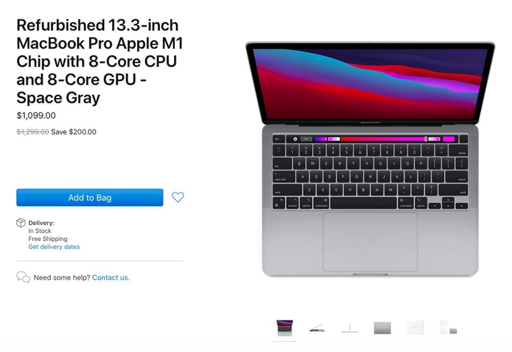 MacBook Pro Apple M1 Reconditionne Apple propose à la vente des MacBook Pro M1 reconditionnés (aux États Unis)